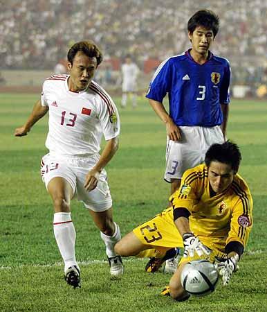 亚洲杯决赛中国不敌日本 川口能活救险