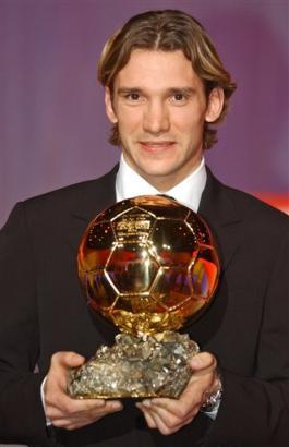 舍甫琴科当选欧洲足球先生 舍瓦的亲和力