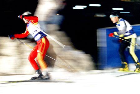 volvo北京国际短距离越野滑雪赛举行高清图片