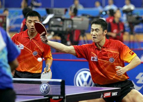 第48届世乒赛 阎森 王励勤艰难晋级