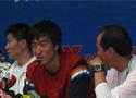 刘翔出席赛后发布会