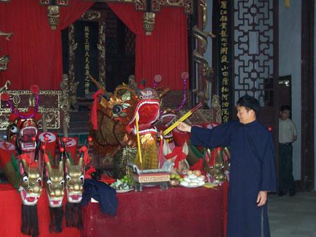 朝庙仪式在屈子祠举行(于红立摄)