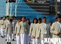 尼泊尔代表团升旗仪式