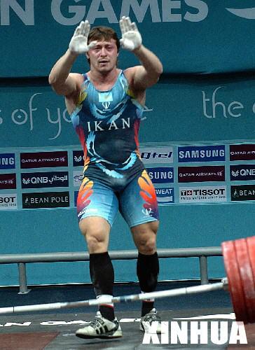 亚运男子举重 哈萨克斯坦选手夺金图片