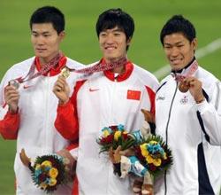110米栏刘翔摘金破亚运纪录