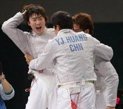 中国男子佩剑团体赛多哈摘金