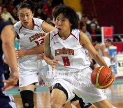 中国女篮大胜中国台北亚运卫冕