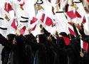卡塔尔代表团入场