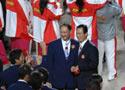 中国代表团成员合影