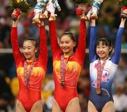张楠获得中国体操队亚运一百金