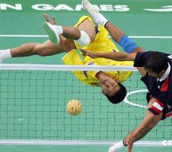 藤球团体赛泰国越南分获男女金牌