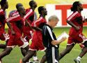 特立尼达队赛前训练