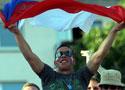 捷克球迷欢呼胜利