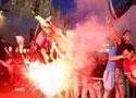 意大利燃起胜利焰火