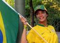漂亮的巴西女球迷