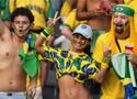 巴西球迷为爱队助威