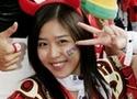 韩国美女助阵爱队