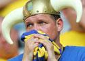 瑞典球迷神情黯然