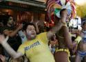 巴西球迷载歌载舞