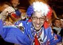 法国球迷欢呼胜利