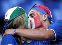 意大利球迷庆祝胜利