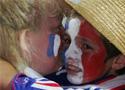 赛后失落的法国球迷