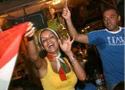 意大利球迷庆祝夺冠