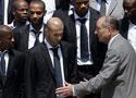 法国队受到总统接见