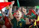 赛后兴奋的葡萄牙球迷