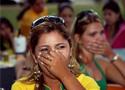 悲伤的巴西球迷
