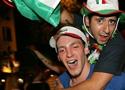 兴奋的意大利球迷