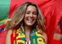 漂亮热情的葡萄牙球迷
