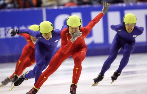 男子短道速滑1500米 隋宝库摘得金牌