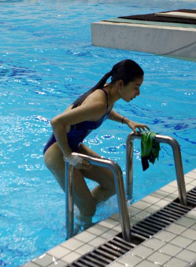 跳水队在训练基地进行了公开训练