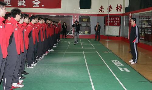 桑洋/[组图]/羽球国手桑洋退役中国羽球队欢送仪式