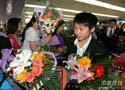 中国乒乓球队载誉回京