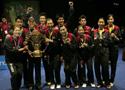 [组图]-苏迪曼杯颁奖 中国横扫印尼第六次捧杯