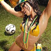 美洲杯开赛在即 各国性感足球宝贝场外激情助威