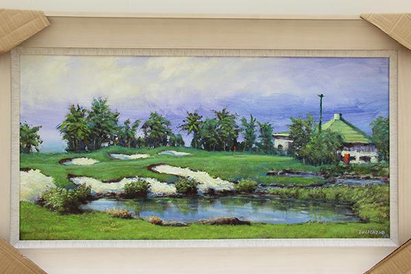 序号14,绘画《雨后》