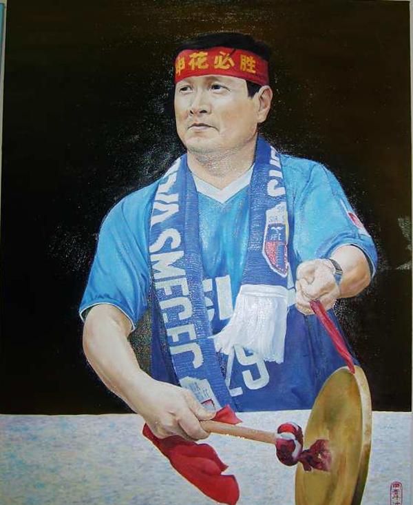 序号28,油画《苏州球迷乔老爷》