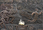 《生命·运动·薪火永传》浮雕捐赠中国体育博物馆