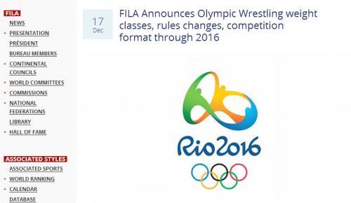 增加女子金牌数 里约奥运摔跤小项进行调整